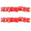 3 Cut Beads 10/0 Transparent Iris Red